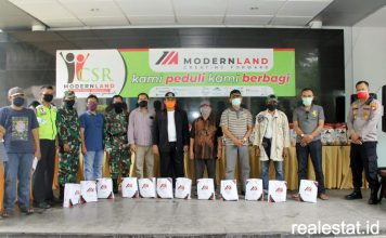 CSR Modernland COVID-19 Jakarta garden city realestat id dok