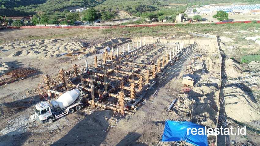Progres pembangunan Rusunawa. (Kementerian PUPR)  Universitas Tadulako