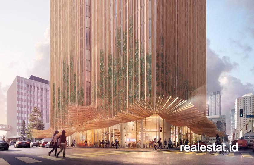 Proyek SkyTrees besutan Crown Group didesain Koichi Takada Architects dengan bentuk menyerupai gaun Marilyn Monroe.
