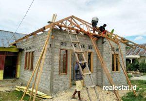 Rumah masyarakat berpenghasilan rendah (MBR).