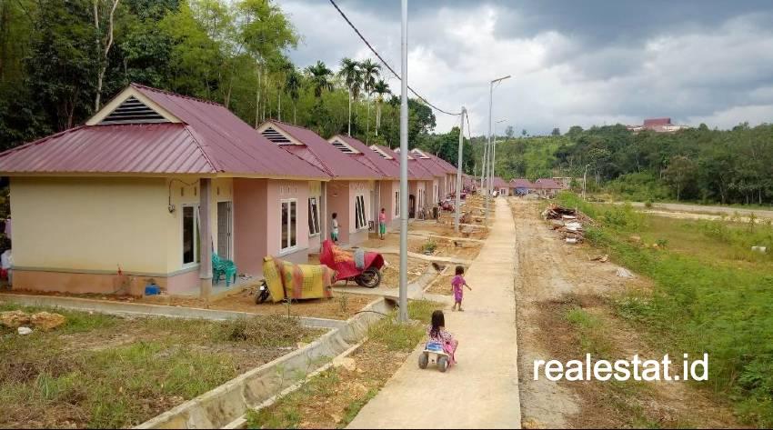 Rumah khusus Relokasi Bencana di Bantaran Sungai Ogan Komering Ulu Selatan (Foto: Dok. Kementerian PUPR)