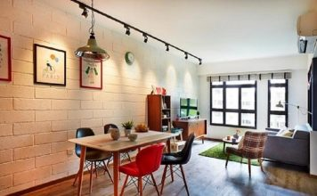 desain ruang makan bergaya kafe