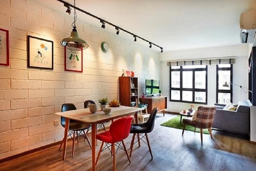 Inspirasi desain ruang makan bergaya kafe. (Foto: Polarumah)
