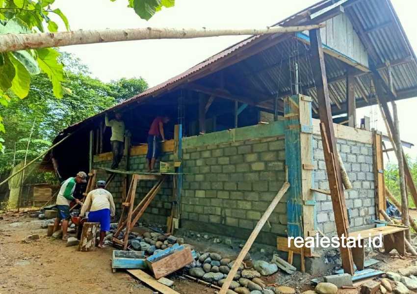 Program bedah rumah di Sulawesi Tengah. (Foto: Dok. Kementerian PUPR)