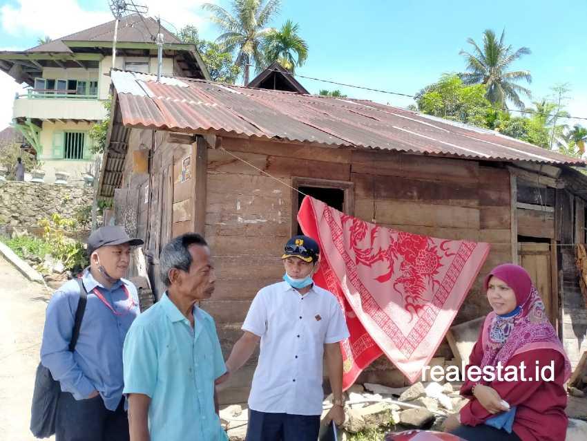 Rumah tidak layak huni di Sumatera Barat yang mendapat bantuan Program BSPS. (Foto: Dok. Kementerian PUPR)