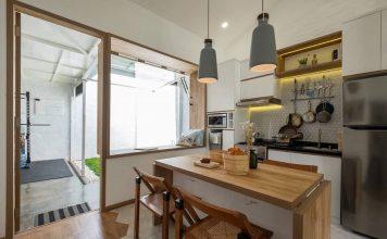 desain ruang makan dan dapur dalam satu area