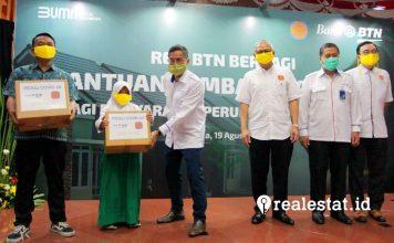 Bank BTN – REI Bagikan Sembako untuk Warga Terimbas COVID-19 realestat.id dok