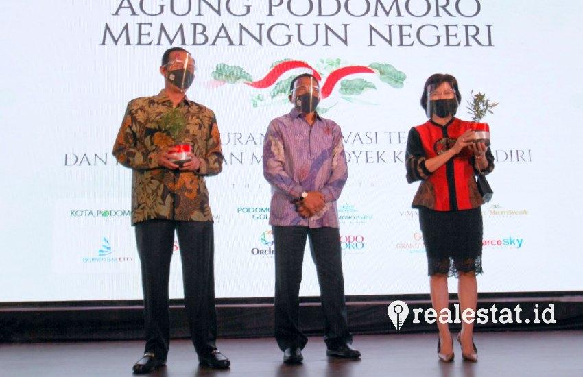 Kota Podomoro Tenjo diperkenalkan kepada masyarakat dalam acara Agung Podomoro Membangun Negeri, Senin, 17 Agustus 2020.