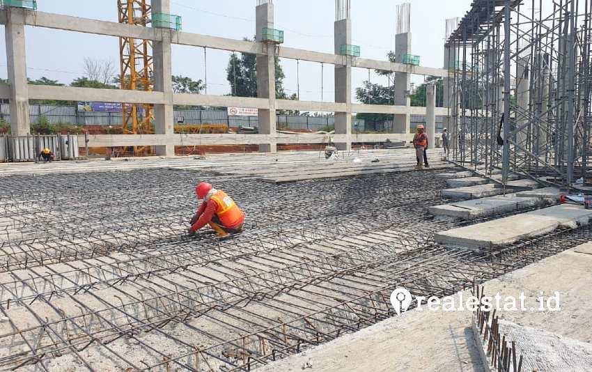 Progres pembangunan Kampus UIII. (Foto: Kementerian PUPR)