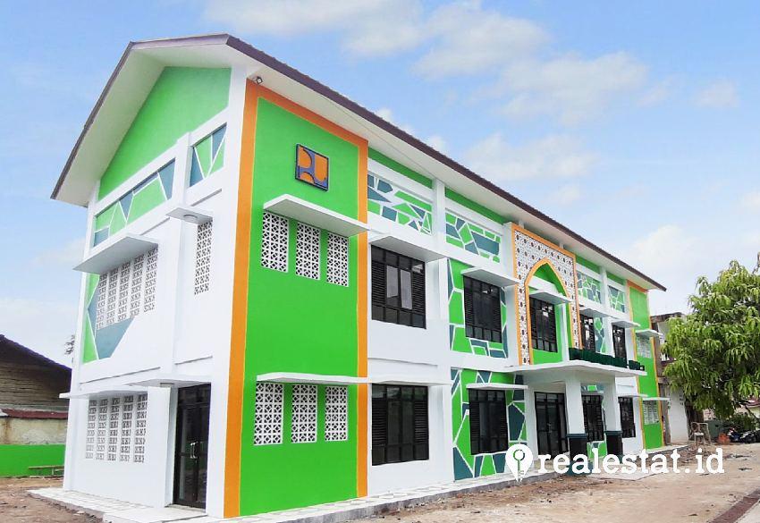 Rumah susun pondok pesantren di Pekanbaru, Riau. (Foto: Dok. Kementerian PUPR)