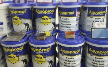 Aquaproof, cat pelapis anti bocor Aquaproof, tips mengatasi dinding rembes