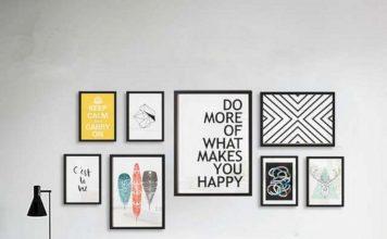 tips memasang artwork, cara memasang karya seni di dinding, indah dengan artwork di dinding