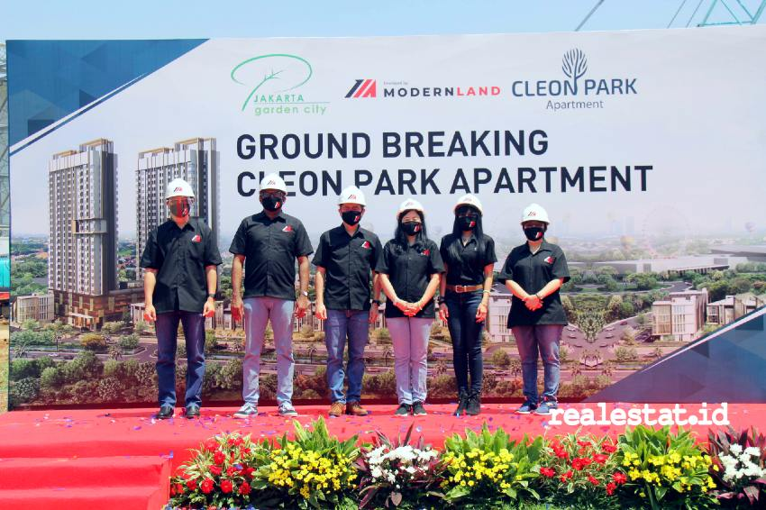 Groundbreaking Cleon Park Apartment, Jakarta Garden City. (Foto: Dok. Modernland)