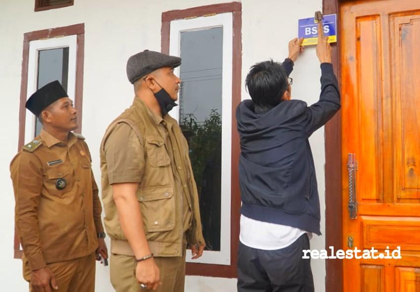 Pelaksanaan Program Bedah Rumah (BSPS) di Kabupaten Banyuasin, Sumatera Selatan (Foto: Dok. Kementerian PUPR)