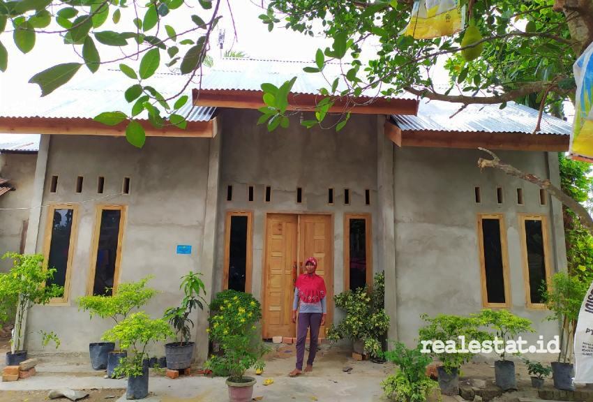 Rumah penerima Bantuan Stimulan Perumahan Swadaya (BSPS) di Batang Hari, Jambi. (Foto: Dok. Kementerian PUPR)