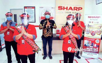 sharp indonesia bagikan sepeda hari Pelanggan nasional realestat.id dok