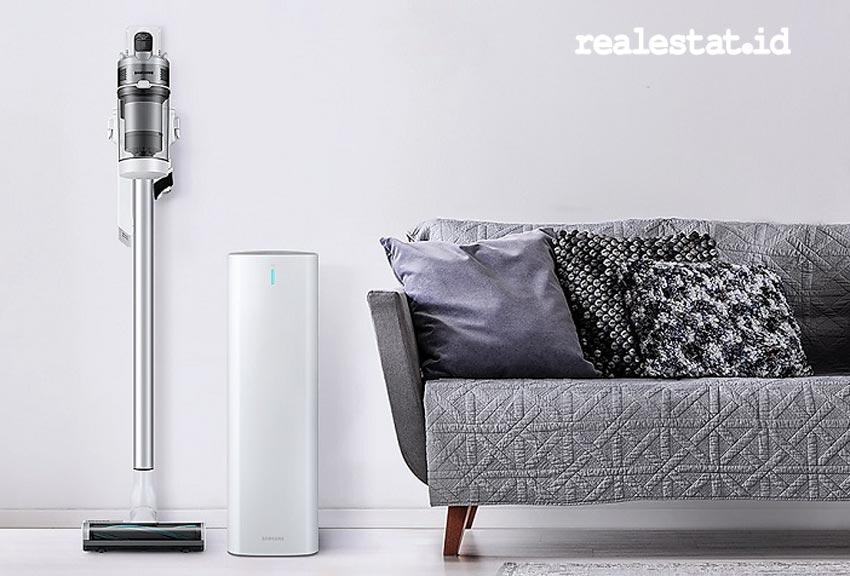 Samsung Jet Vacuum Cleaner merupakan salah satu perangkat yang diluncurkan oleh Samsung Electronics Indonesia, pada Selasa (27/10/2020) lalu. Penyedot debu ini memiliki lima lapis sistem filtrasi HEPA yang membersihkan rumah dan perabotan hingga sudut-sudutnya. (Foto: dok Samsung Electronics Indonesia)