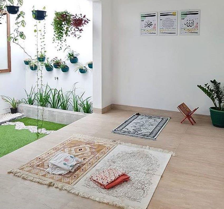 Salah satu desain mushola minimalis di rumah. (Foto: pinterest)