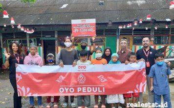 oyo indonesia peduli ulang tahun kedua realestat.id dok
