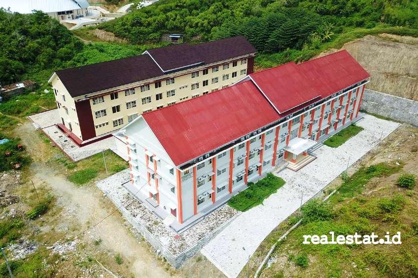 Rumah susun Pekan Olah Raga Nasional (PON) XX 2021 di Jayapura, Papua. (Foto: Kementerian PUPR)