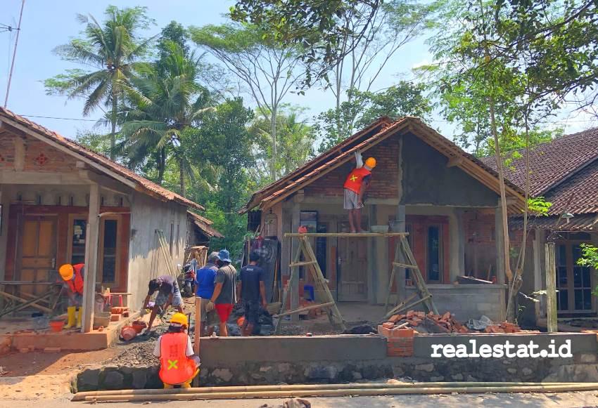 Pembangunan Sarana Hunian Pariwisata (Sarhunta) di KSPN Borobudur. (Foto: Kementerian PUPR)