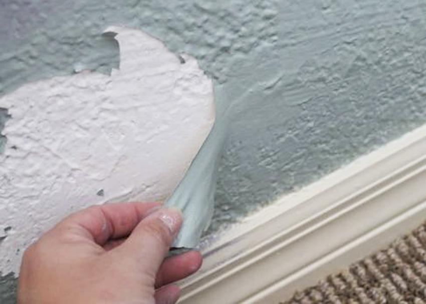 Ilustrasi cat dinding yang mengelupas. (Foto: Istimewa)