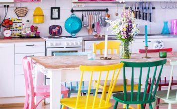 interior ruang makan berwarna, dekorasi ruang makan colourful, inspirasi dekorasi ruang makan