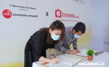 Grand Central Bogor travelio penandatanganan kerja sama realestat.id dok