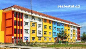 Rusunawa MBR di Gorontalo yang dibangun setinggi 4 lantai dan berisikan 90 unit hunian bagi masyarakat berpenghasilan rendah. (Foto: dok. Kementerian PUPR)