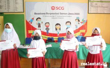 SCG CSR beasiswa PT Semen Jawa Tambang Semen Sukabumi realestat.id dok