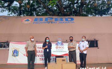SCG #PeduliBersama donasi Alat Pelindung Diri Masker N95 realestat.id dok