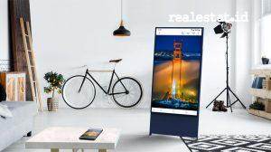 Inovasi layar televisi Samsung The Sero dapat berotasi sesuai kebutuhan penggunanya. (Foto: dok Samsung Electronics Indonesia)