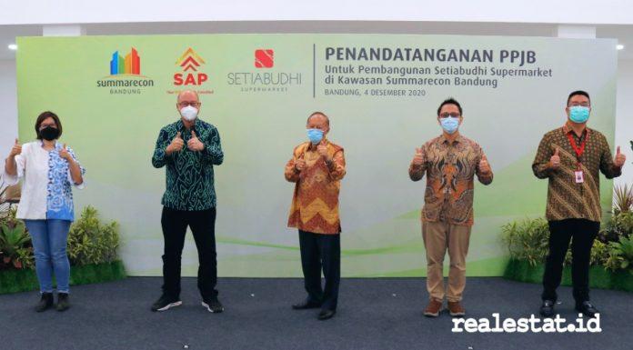 Summarecon Bandung Setiabudhi Supermarket penandatanganan PPJB realestat.id dok
