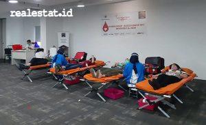 Peserta donor darah di kegiatan sosial Vivere Peduli. (Foto: dok. Vivere Group)