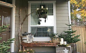 dekorasi natal di teras rumah, dekorasi natal dan tahun baru