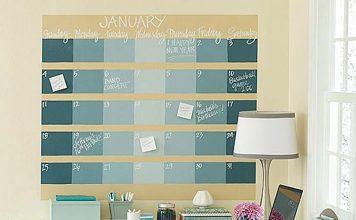 kalender dinding chalkboard, inspirasi desain kalender dinding, chalkboard wall calender