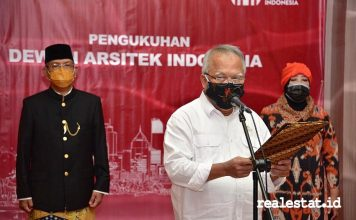 menteri pupr basuki hadimuljono kukuhkan dewan arsitek indonesia dai realestat.id dok