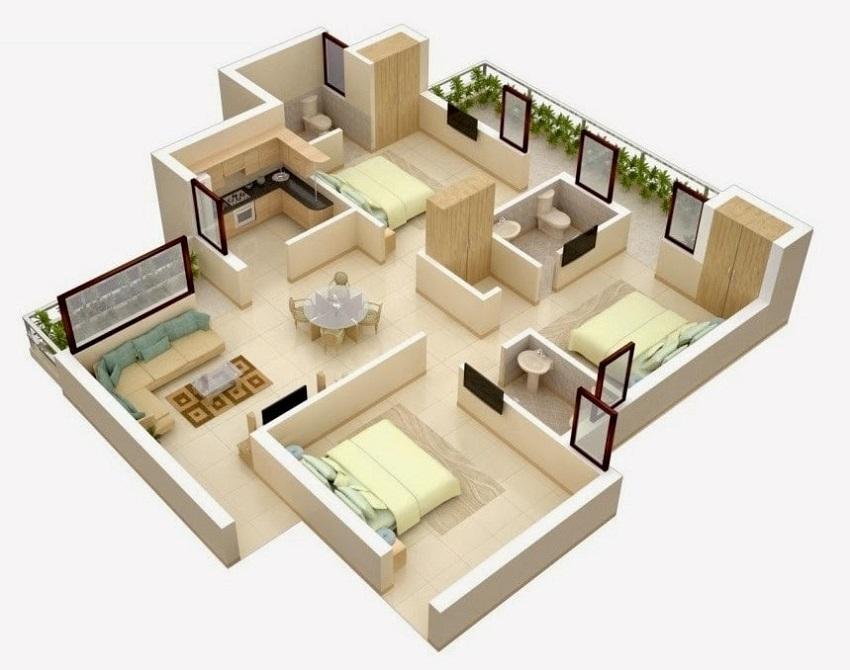 Ide dan inspirasi denah rumah minimalis. (Gambar: liveherethere.blogspot.com)