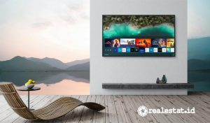 Televisi Samsung The Terrace – Smart TV QLED 4K yang dirancang untuk penggunaan di luar ruangan atau outdoor. (Foto: dok. Samsung Indonesia)