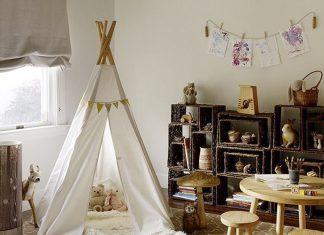 Teepee Tent, tenda kecil, dekorasi kamar anak