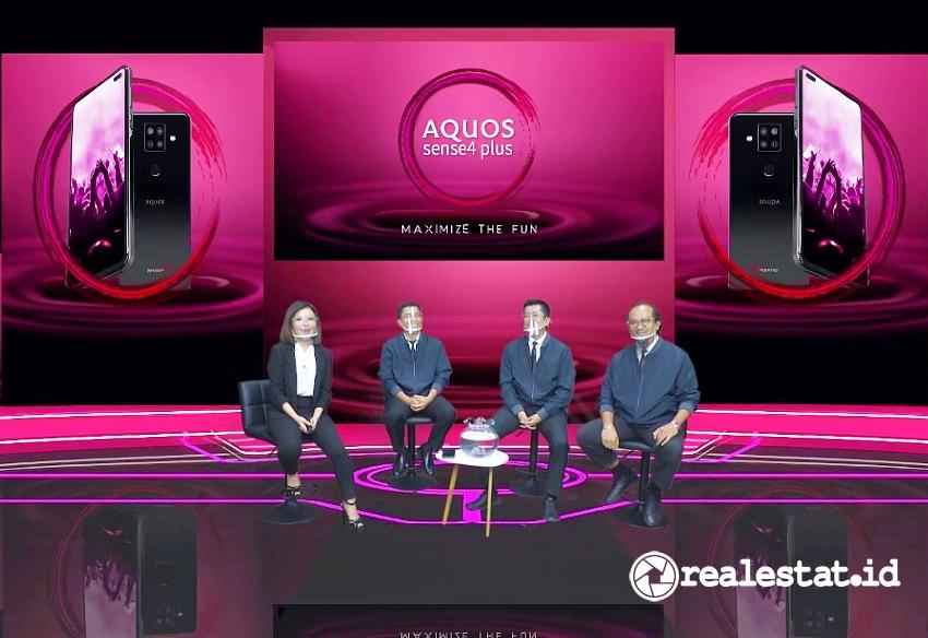 Peluncuran Sharp AQUOS Sense4 Plus (Foto: RealEstat.id)