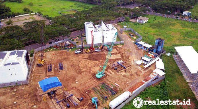 Progres pembangunan Cleon Park Apartment,  Jakarta Garden City.