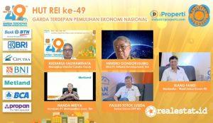 """Webinar HUT REI ke-49 bertema """"Industri Properti: Garda Terdepan Pemulihan Ekonomi Nasional"""""""