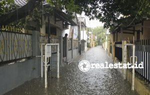 Salah satu perumahan di Jakarta Selatan yang terendam banjir. (Foto: Adhitya Putra)