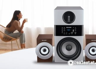 Sharp Active Speaker CBOX-MAX09PA Kualitas Suara High Definition realestat.id dok