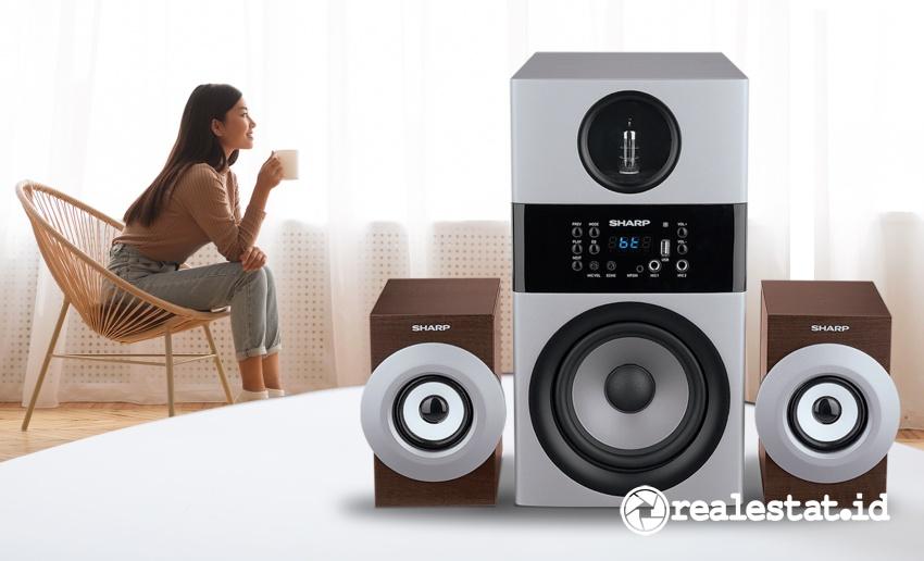 Sharp Active Speaker CBOX-MAX09PA menawarkan kualitas suara high definition.