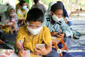 Suasana kegiatan belajar daring di Panti Asuhan (Foto: Dok. Wings Care)