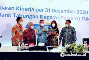 Jajaran Direksi PT Bank Tabungan Negara (Persero), Tbk, seusai acara Paparan Kinerja per 31 Desember 2020 (Foto: Dok. Bank BTN)