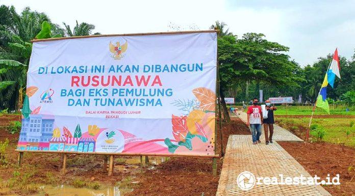 Lokasi Rusunawa Eks Pemulung dan Tunawisma di Bekasi (Foto: Dok. Kementerian PUPR)