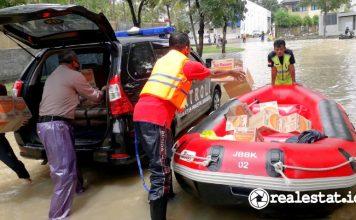 satgas khusus jababeka banjir hujan cikarang realestat.id dok